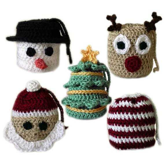 5 Christmas Gift Bags PDF Crochet Pattern Instant Download