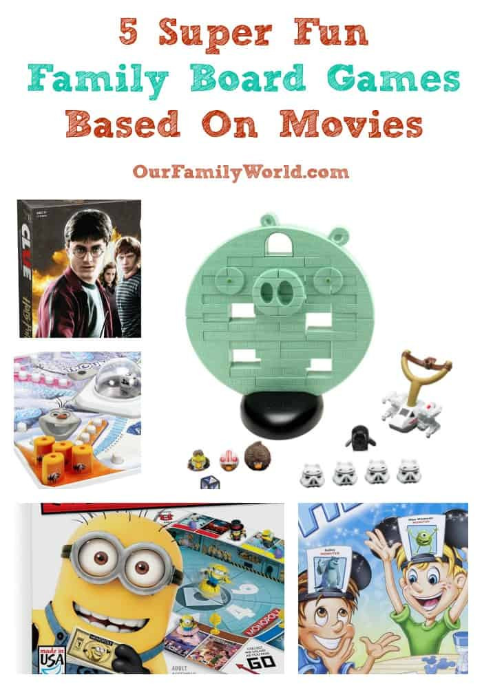 5 Super Fun Family Board Games Based Movies