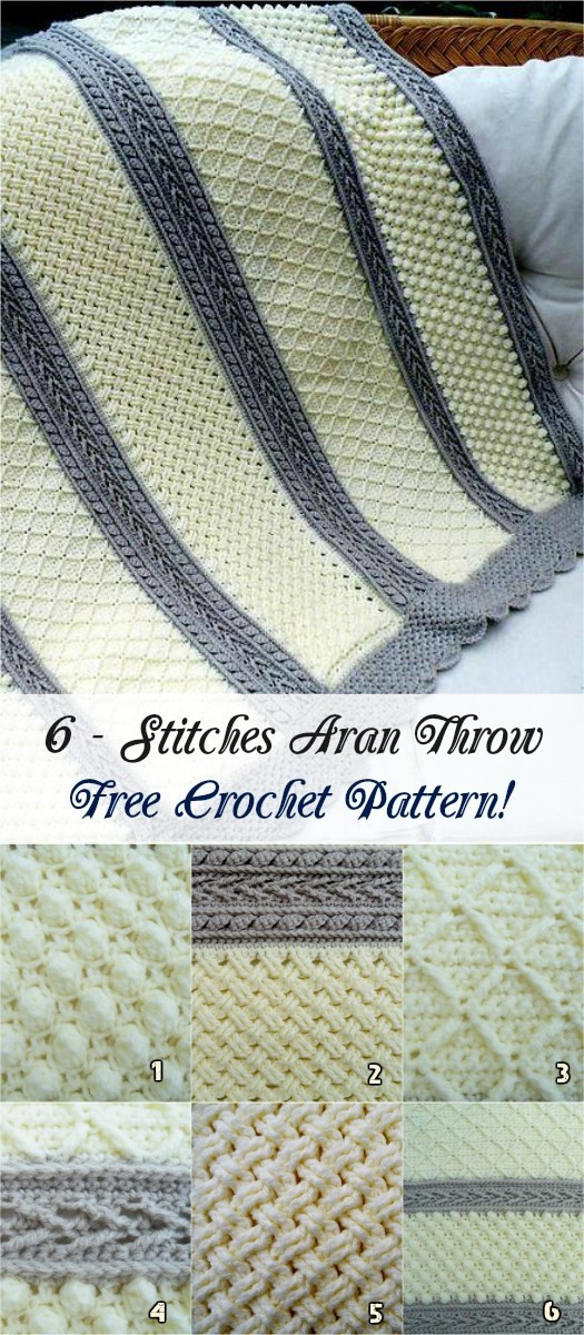 Luxury 6 Stitches Aran Throw [free Crochet Pattern] Aran Crochet Afghan Pattern Of Gorgeous 41 Pics Aran Crochet Afghan Pattern