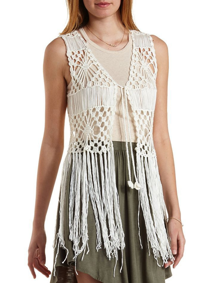 Luxury 60 Best Images About Crocheted Boho Vest On Pinterest Crochet Vest with Fringe Pattern Of Brilliant 40 Images Crochet Vest with Fringe Pattern
