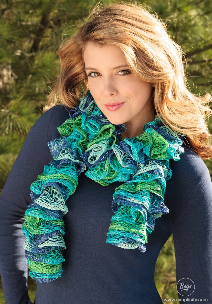 Luxury 69 Best Knitting Loom Patterns Images On Pinterest Knit Ruffle Scarf Of Marvelous 50 Pics Knit Ruffle Scarf