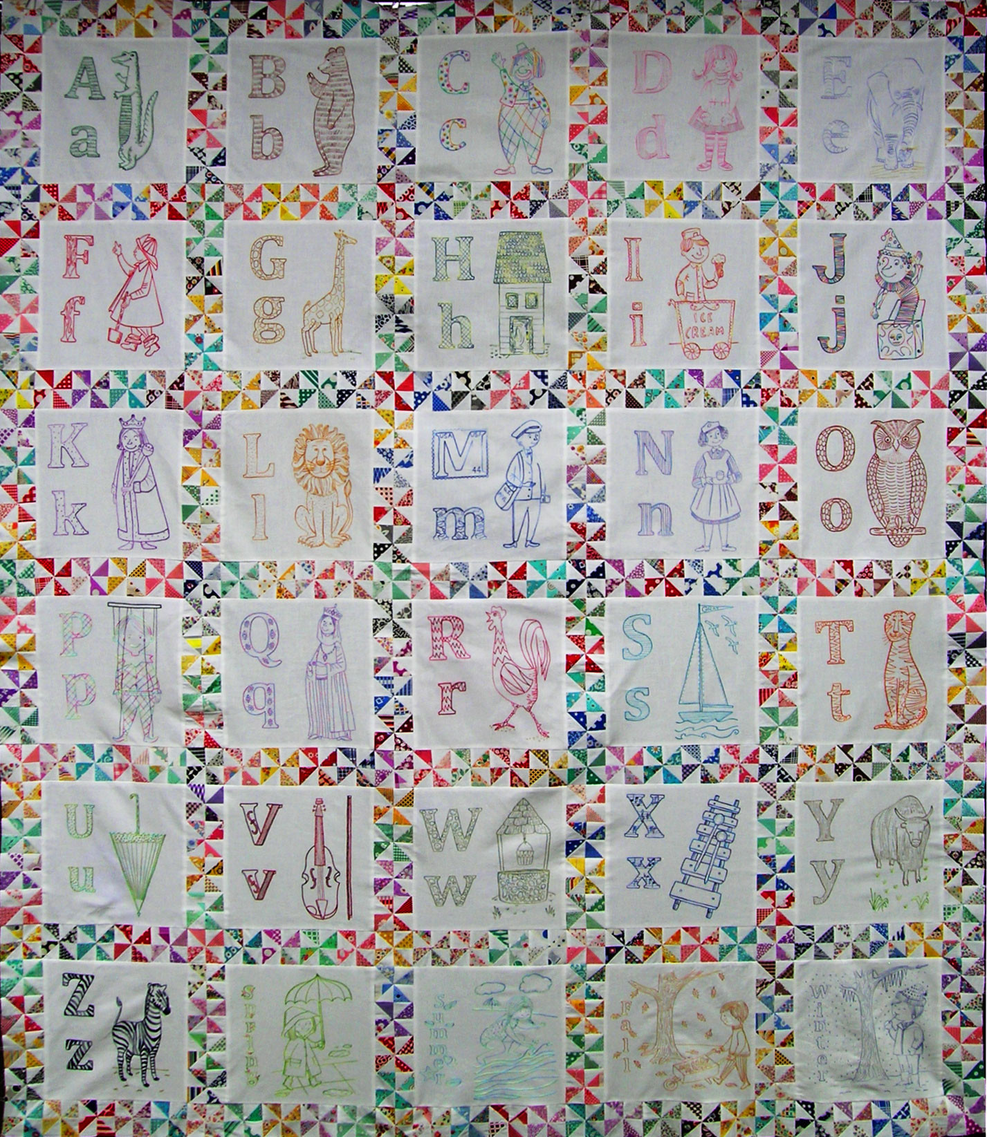Luxury Abc Embroidered Quilt top – Q is for Quilter Embroidery Quilt Patterns Of Contemporary 50 Pictures Embroidery Quilt Patterns