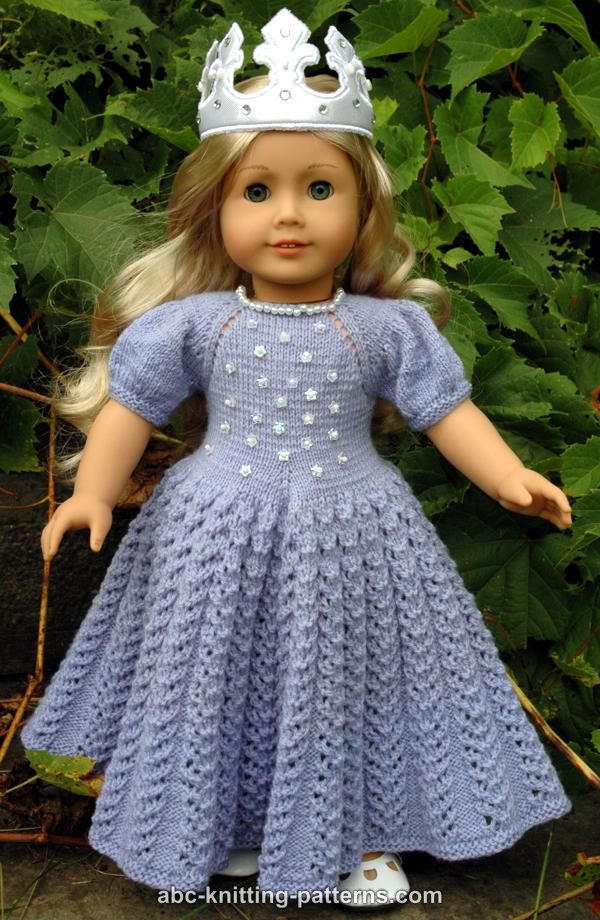 Luxury Abc Knitting Patterns American Girl Doll Snow Princess Dress Free Crochet Patterns for American Girl Dolls Clothes Of Adorable 50 Pictures Free Crochet Patterns for American Girl Dolls Clothes