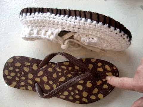 ADD RUBBER SOLES TO CROCHET SANDALS how to make outdoor