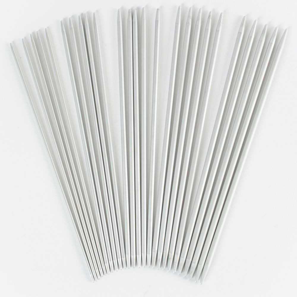 Addi Metal Double Point Sock Needles 15cm Set of 5