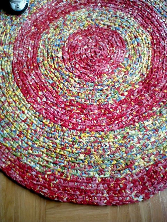 Luxury after Christmas Sale Hand Crocheted Round Rag Rug 35 Hand Crochet Rug Of Contemporary 41 Models Hand Crochet Rug
