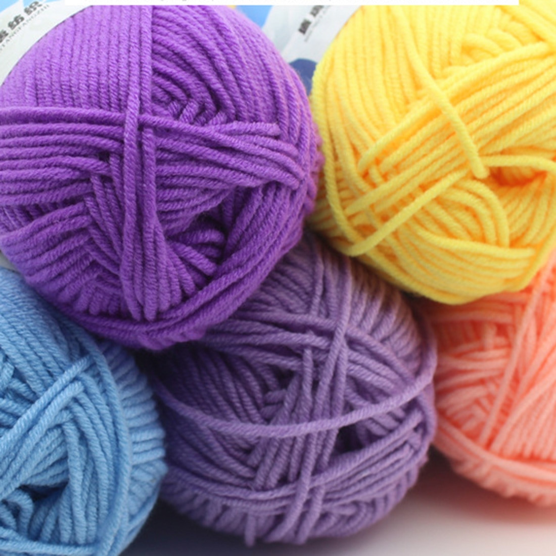 Luxury Aliexpress Buy Sweet soft Cotton Baby Knitting Wool Hand Crochet Yarn Of Delightful 43 Models Hand Crochet Yarn