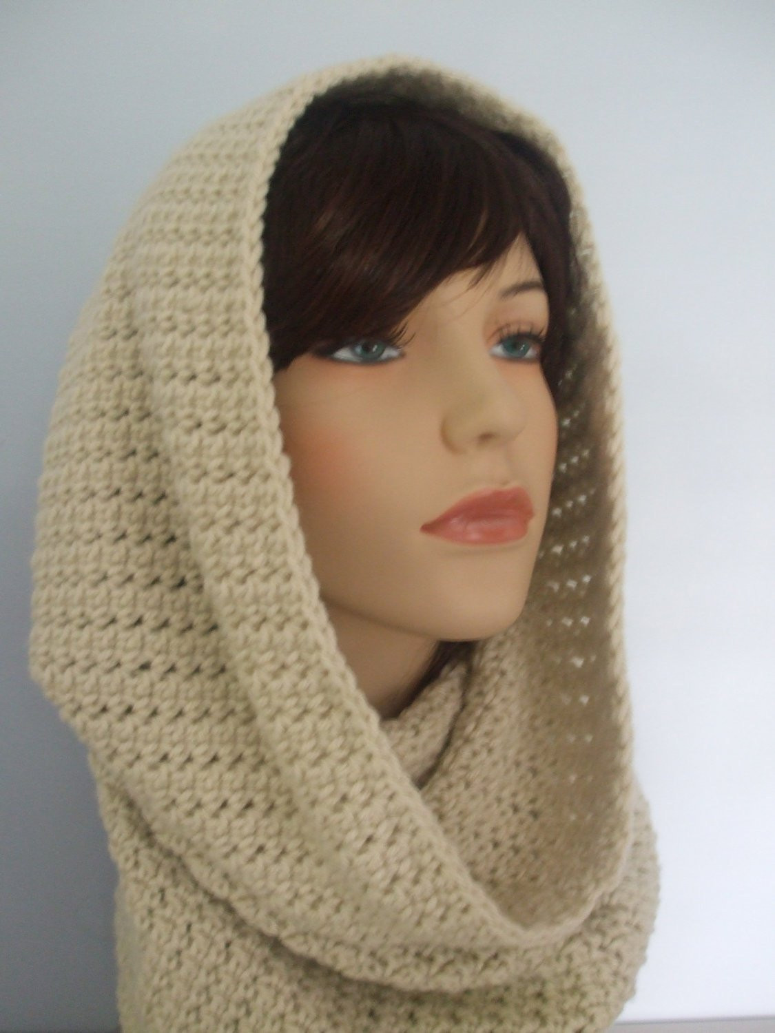 all in one crochet cowl neck hood and