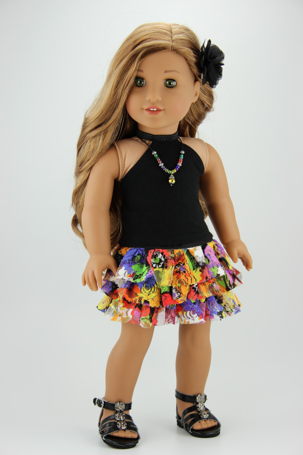 Luxury American Girl Doll Clothes Black and Multi Color Halter top American Girl Doll Skirts Of Incredible 50 Ideas American Girl Doll Skirts