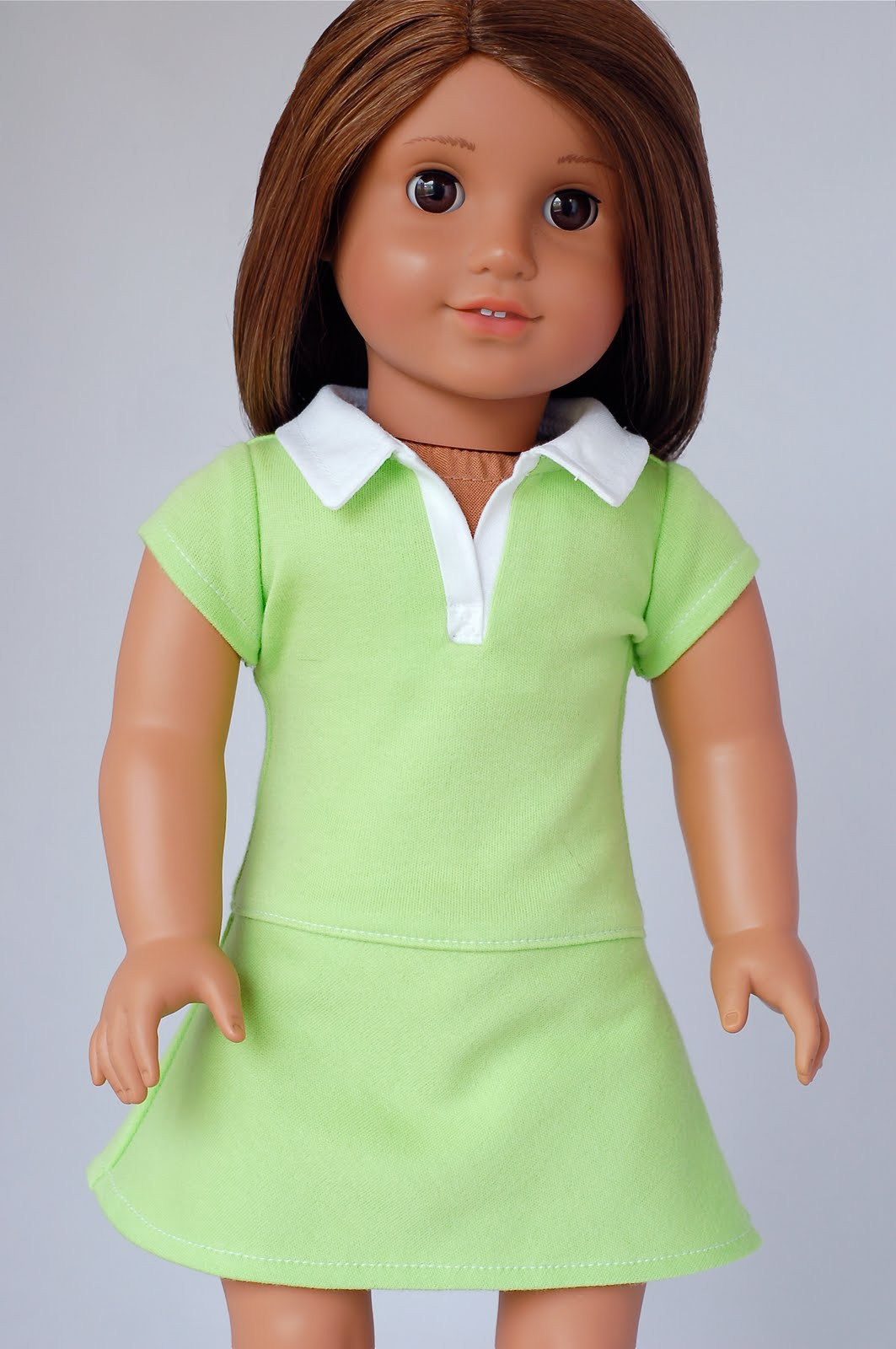 American Girl Doll Clothes Pattern Polo Shirt Dress