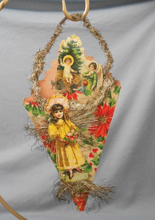Luxury Antique Cornucopia Scrap Tinsel Christmas ornament In Vintage Christmas ornaments for Sale Of Charming 43 Pictures Vintage Christmas ornaments for Sale