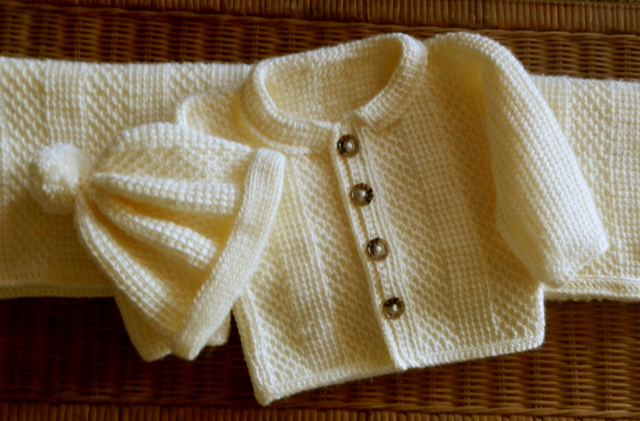 Luxury Baby Sweater Matching Hat Set and Blanket Tunisian Crochet Baby Sweater Sets Of Charming 43 Photos Crochet Baby Sweater Sets