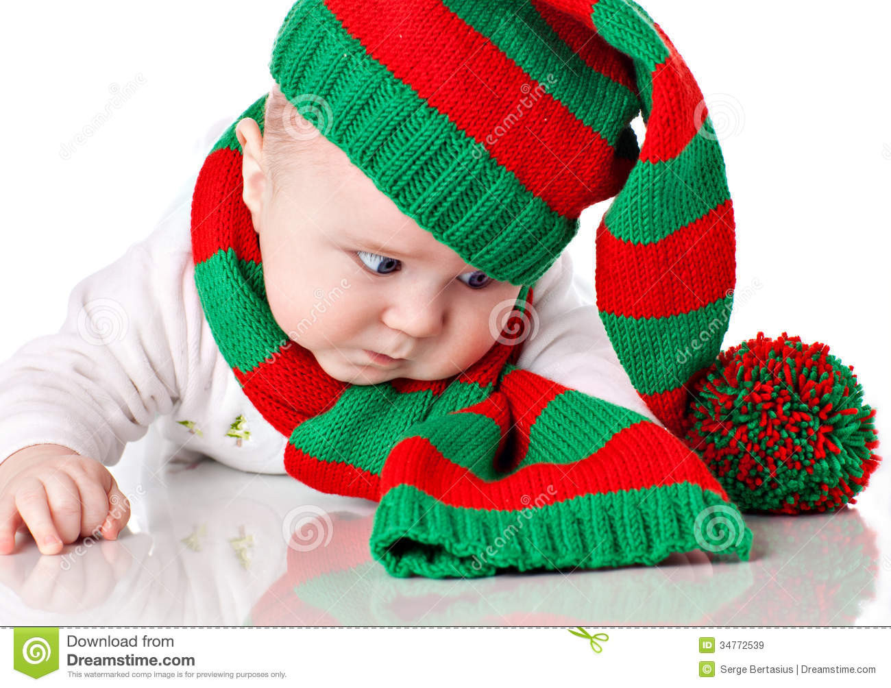 Luxury Baby with Christmas Hat and Scarf Stock Image Image Of Baby Christmas Hat Of Brilliant 46 Photos Baby Christmas Hat