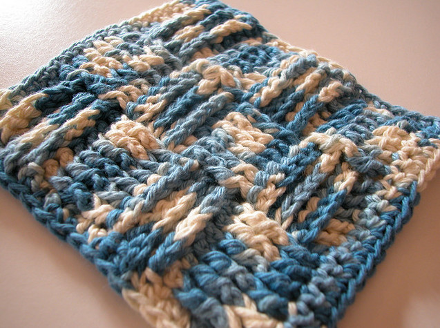 Basketweave Crochet Washcloth and Blanket Pattern