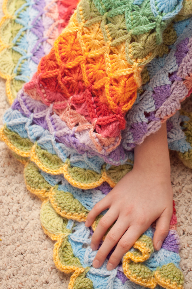 Bavarian Crochet Blanket and a Bit of Love Mad Mad me