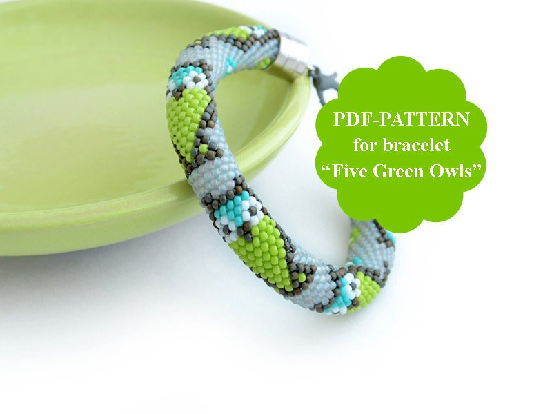 Luxury Bead Crochet Bracelet Pattern Owl Pattern Seed Beads Crochet Beaded Bracelet Pattern Of Brilliant 49 Images Crochet Beaded Bracelet Pattern