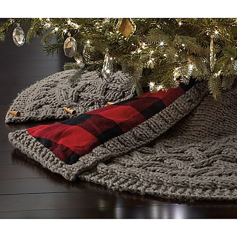 Luxury Beekman 1802 Heirloom Holiday Chunky Knit Tree Skirt In Knit Tree Skirt Pattern Of Delightful 49 Images Knit Tree Skirt Pattern