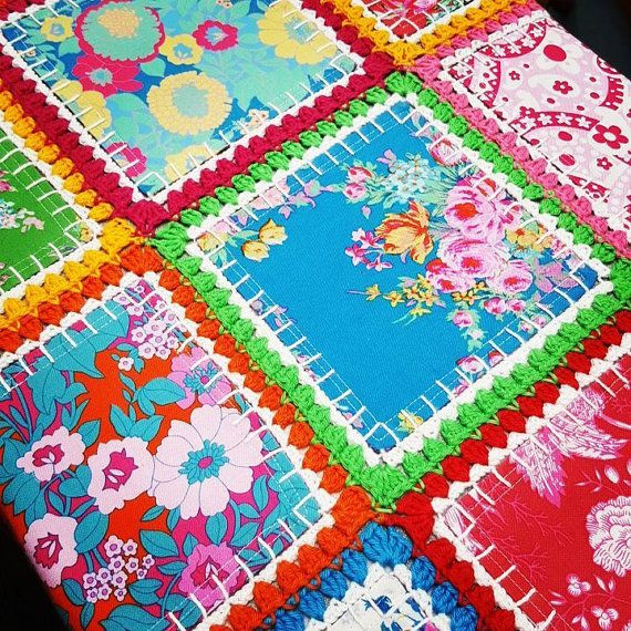 Luxury Best 25 Fabric Squares Ideas On Pinterest Crochet and Fabric Quilt Of Top 45 Models Crochet and Fabric Quilt