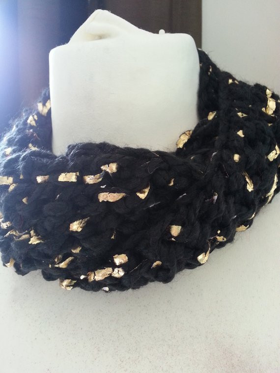 Luxury Black and Gold Leaf Yarn Crochet Knitted Infinity by Black and Gold Yarn Of Superb 46 Images Black and Gold Yarn