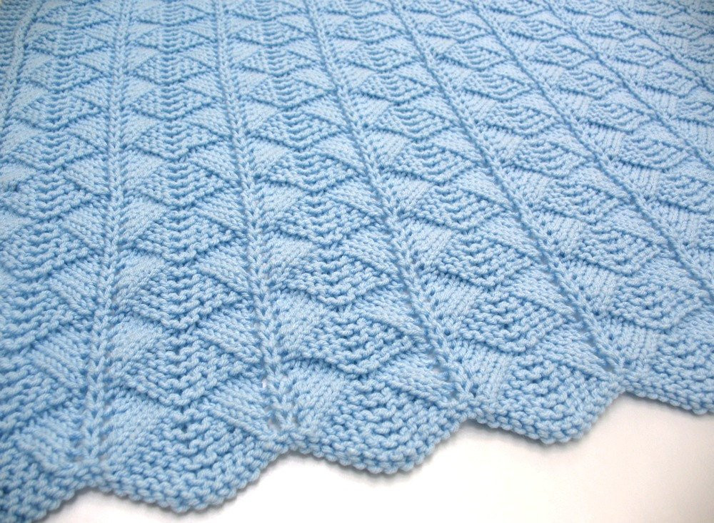 Luxury Blue Baby Blanket Hand Knit Baby Blanket by Sticksnstonesgifts Hand Knitted Baby Blankets Of Gorgeous 42 Pics Hand Knitted Baby Blankets