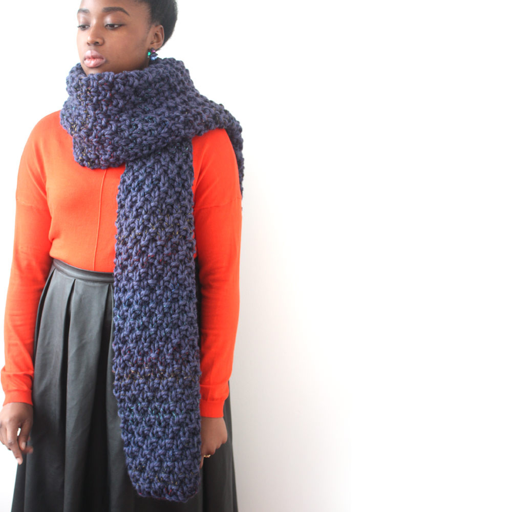 Luxury Blue Oversized Scarf In A Chunky Knit Chunky Knit Scarf Of Top 50 Photos Chunky Knit Scarf