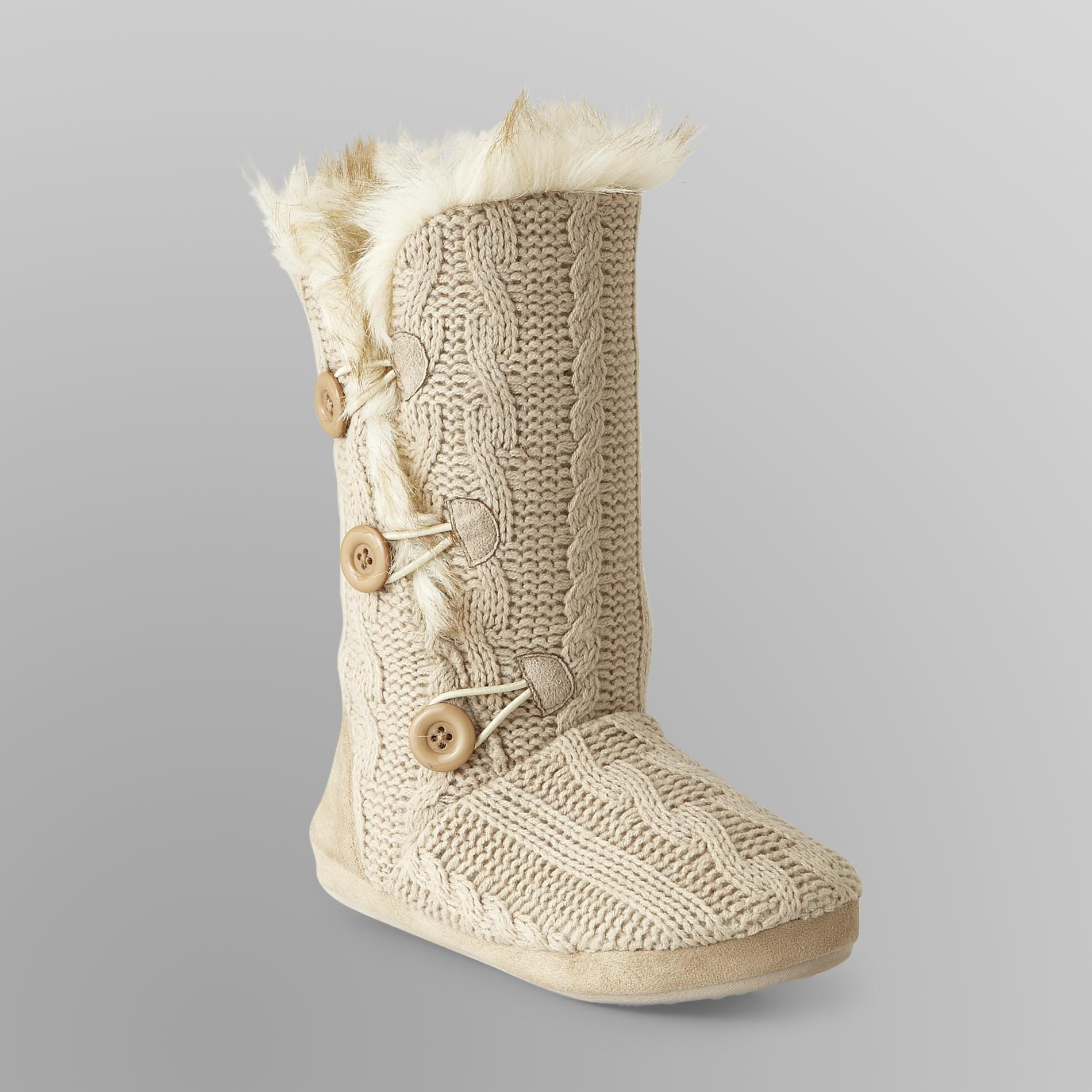 Luxury Bongo Junior S Cable Knit Slipper Boots Faux Fur Knitted Slipper Boots Of Superb 41 Pics Knitted Slipper Boots