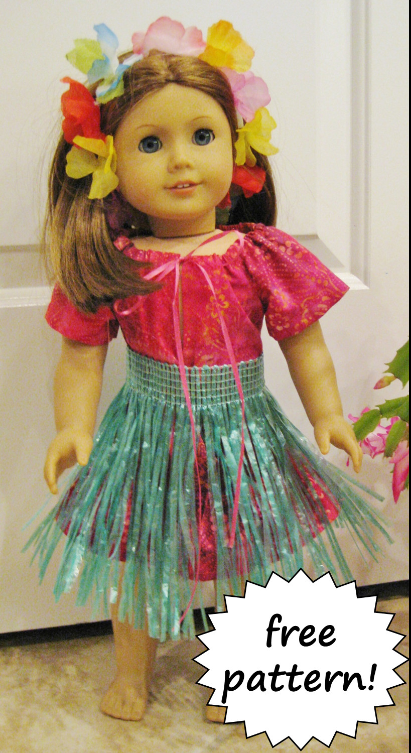 BonnieProjects American Girl Hula Outfit Free Pattern