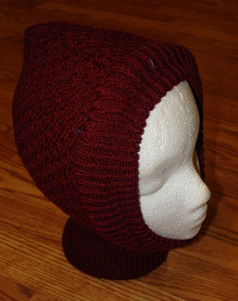 Luxury Burgundy Wine La S Womens 1 Hole Knit Crochet Face Mask Knit Stocking Cap Of Fresh 40 Pictures Knit Stocking Cap