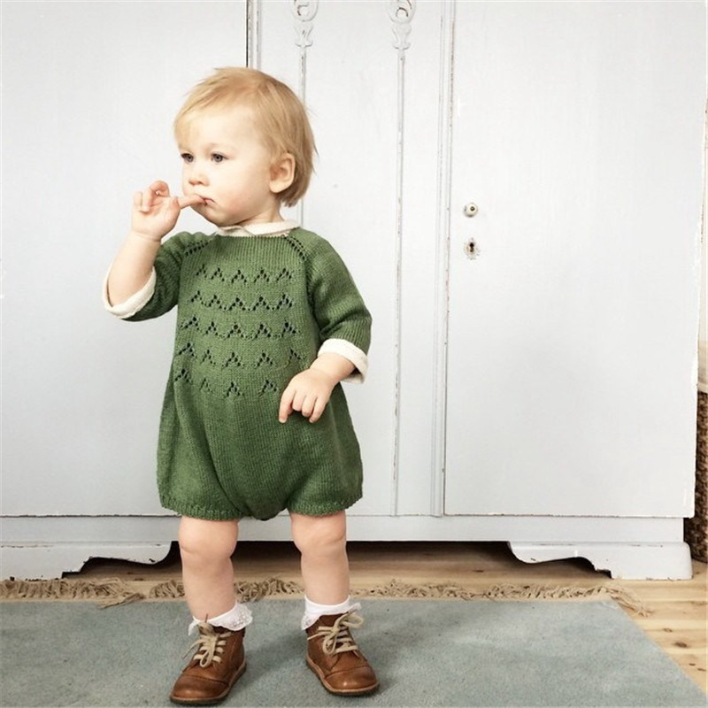Buy 0 5Years Knitted Baby Girl Romper Autumn Winter 2016