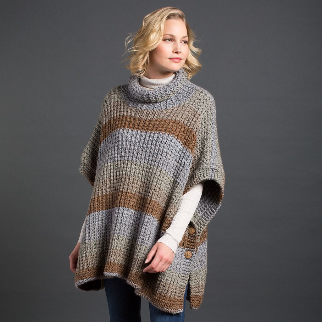 Luxury Caron Tea Cakes™ Cozy Up Knit Poncho In English Breakfast Caron Tea Cakes Patterns Of Incredible 46 Pics Caron Tea Cakes Patterns