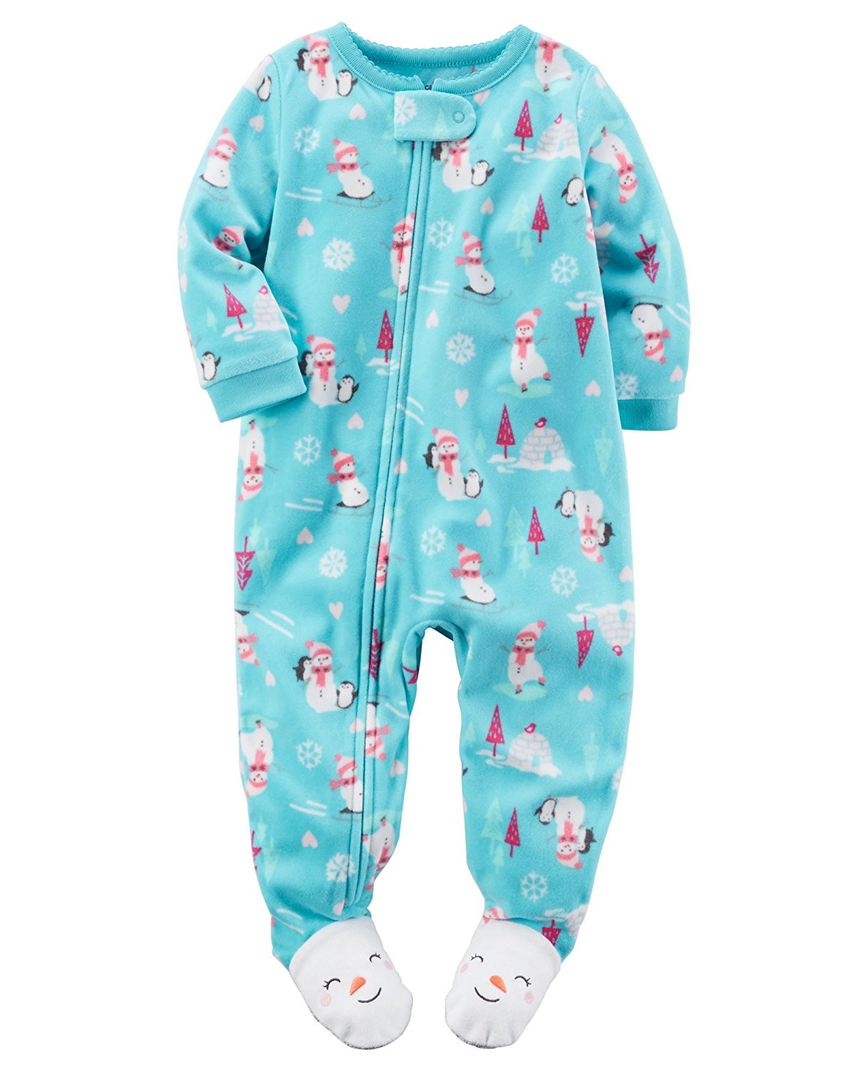 Luxury Carter S Baby Girls 1 Piece Footed Fleece Pajamas Baby Pajamas with Feet Of Delightful 40 Photos Baby Pajamas with Feet