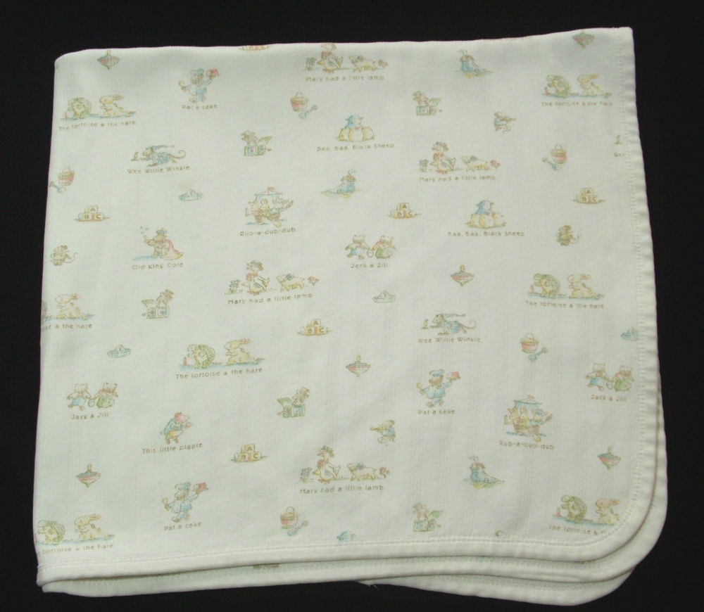 Luxury Carters Classics F White Nursery Rhyme Baby Blanket Cotton Knit Baby Blanket Of Awesome 41 Models Cotton Knit Baby Blanket