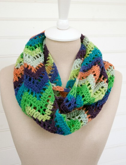 Luxury Chevron Lace Crochet Infinity Scarf Infinity Cowl Crochet Pattern Of Awesome 49 Pics Infinity Cowl Crochet Pattern