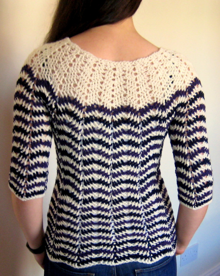 Chevron stripes 3 season sweater