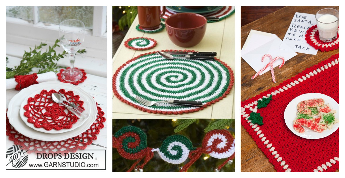 Luxury Christmas Placemat Set Free Crochet Patterns Free Crochet Placemat Patterns Of Lovely 40 Pics Free Crochet Placemat Patterns