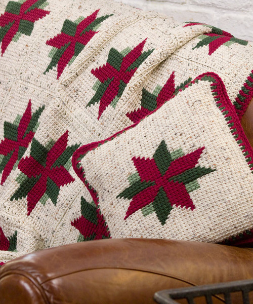 Luxury Christmas Star Throw and Pillow Christmas Afghan Crochet Pattern Of Incredible 40 Ideas Christmas Afghan Crochet Pattern