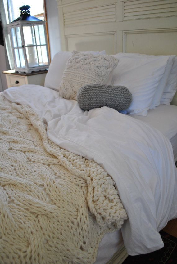 Luxury Chunky Cable Knit Blanket In Cream Irish Wool Throw Twin Chunky Cable Knit Throw Of New 48 Images Chunky Cable Knit Throw
