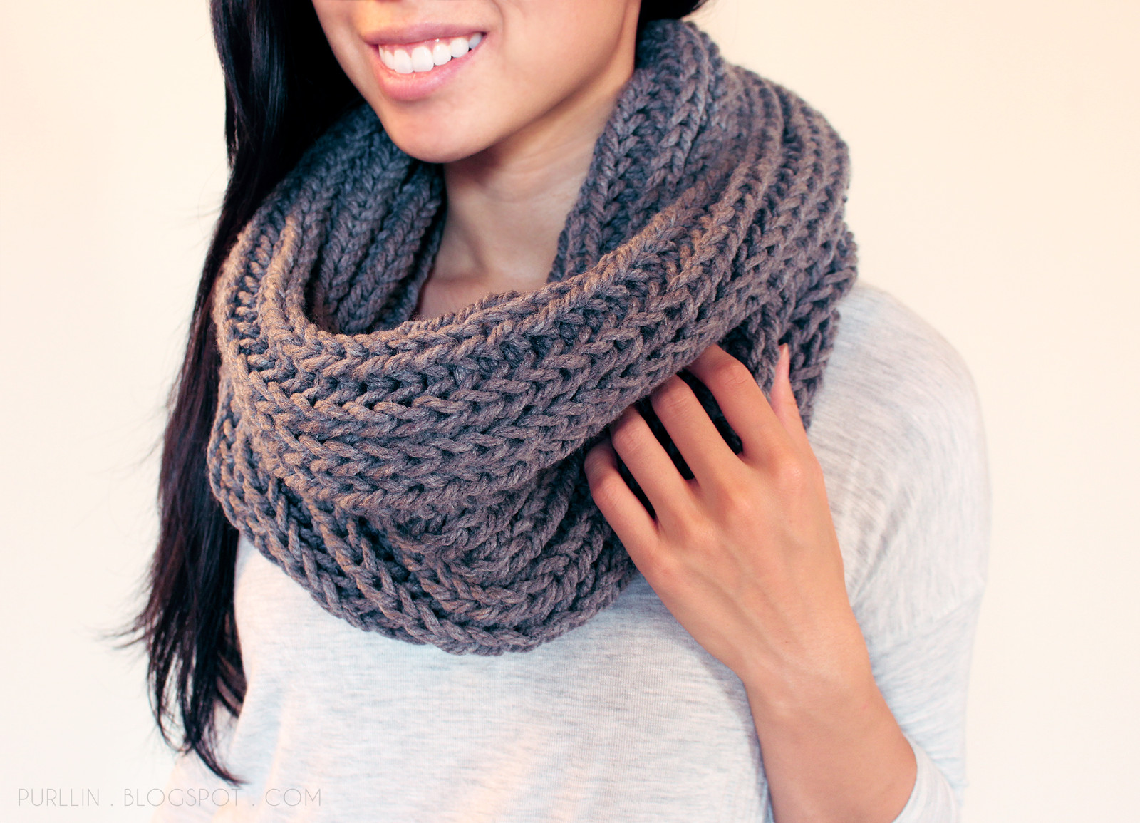 chunky knit infinity scarf free pattern easy