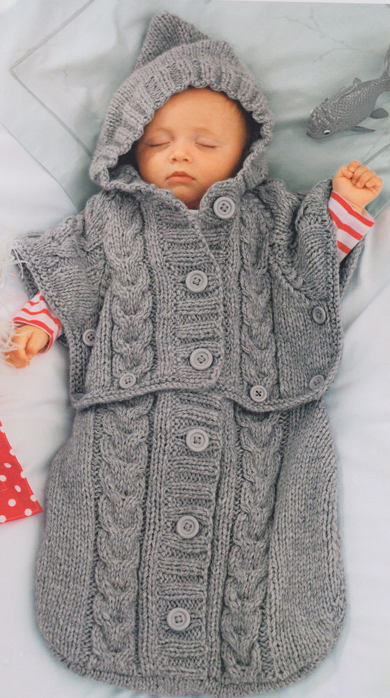Luxury Clever Chunky Baby Sleeping Bag Converts to Hooded Baby Poncho Pattern Of Gorgeous 49 Images Baby Poncho Pattern