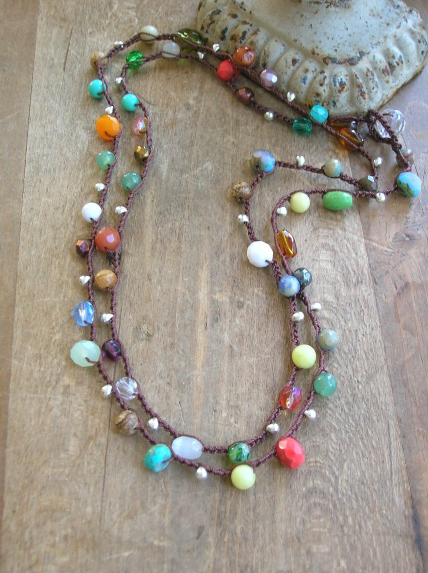 Luxury Colorful Crochet Necklace Boho Jewelry Long Boho Necklace Crochet Bead Necklaces Of Unique 44 Photos Crochet Bead Necklaces