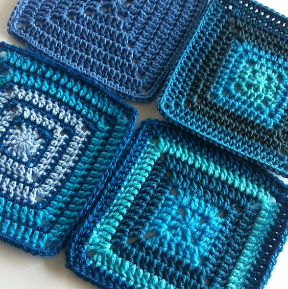 Luxury Colours Of the Sea Ravelry solid Granny Square for Granny Square Afghan Pattern Beginners Of Superb 24 Pictures Granny Square Afghan Pattern Beginners