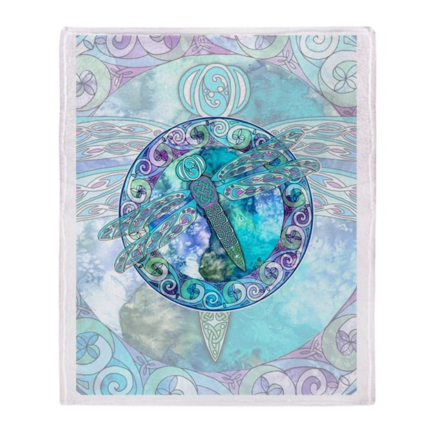 Luxury Cool Celtic Dragonfly Throw Blanket by Artoffoxvox Dragonfly Blanket Of Incredible 45 Ideas Dragonfly Blanket