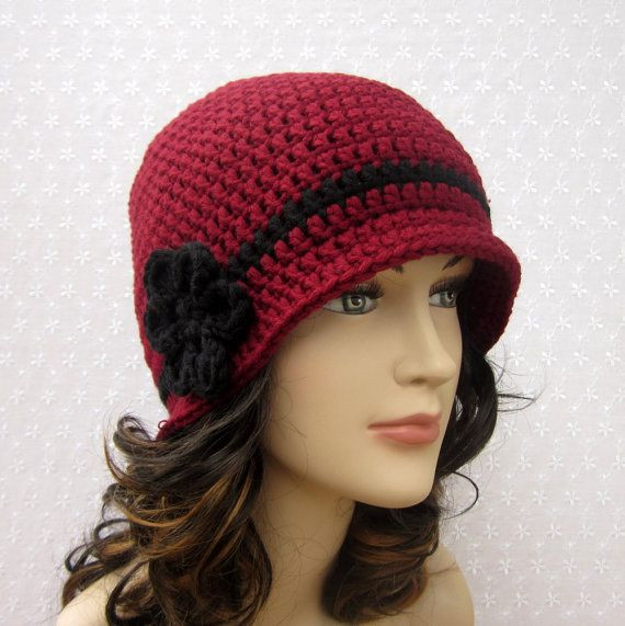 Luxury Cranberry Red Crochet Hat Womens Cloche La S Flapper Ladies Crochet Hats Of Contemporary 46 Pics Ladies Crochet Hats