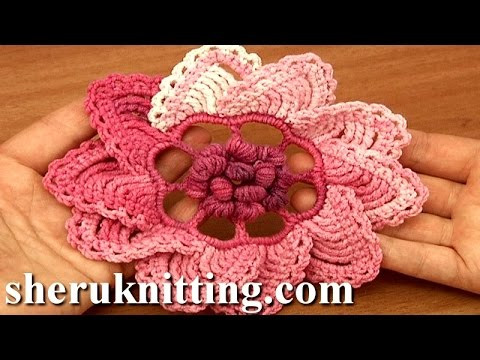 Luxury Crochet 3d Puff Stitch Center Flower Tutorial 91 Crochet Stitches Youtube Of Attractive 48 Images Crochet Stitches Youtube