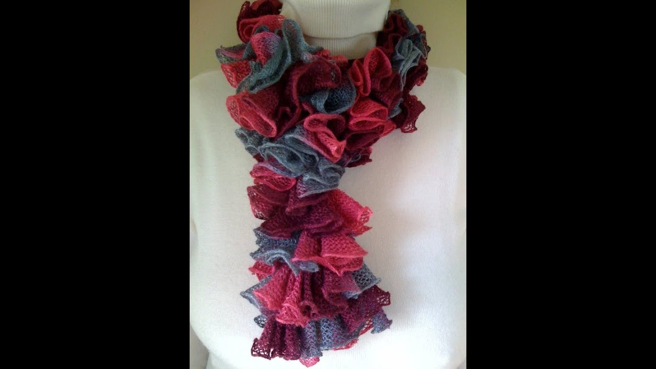 Luxury Crochet A Double Crochet Ruffled Scarf Crochet Ruffle Scarf Of Lovely 41 Models Crochet Ruffle Scarf