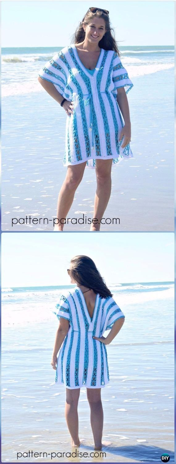 Luxury Crochet Beach Cover Up Free Patterns Women Summer top Crochet Beach Cover Up Patterns Of Adorable 47 Models Crochet Beach Cover Up Patterns