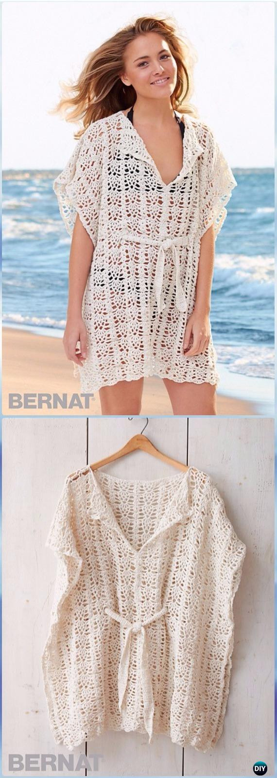Luxury Crochet Beach Cover Up Free Patterns Women Summer top Crochet Beach Cover Ups Patterns Of Beautiful 40 Models Crochet Beach Cover Ups Patterns