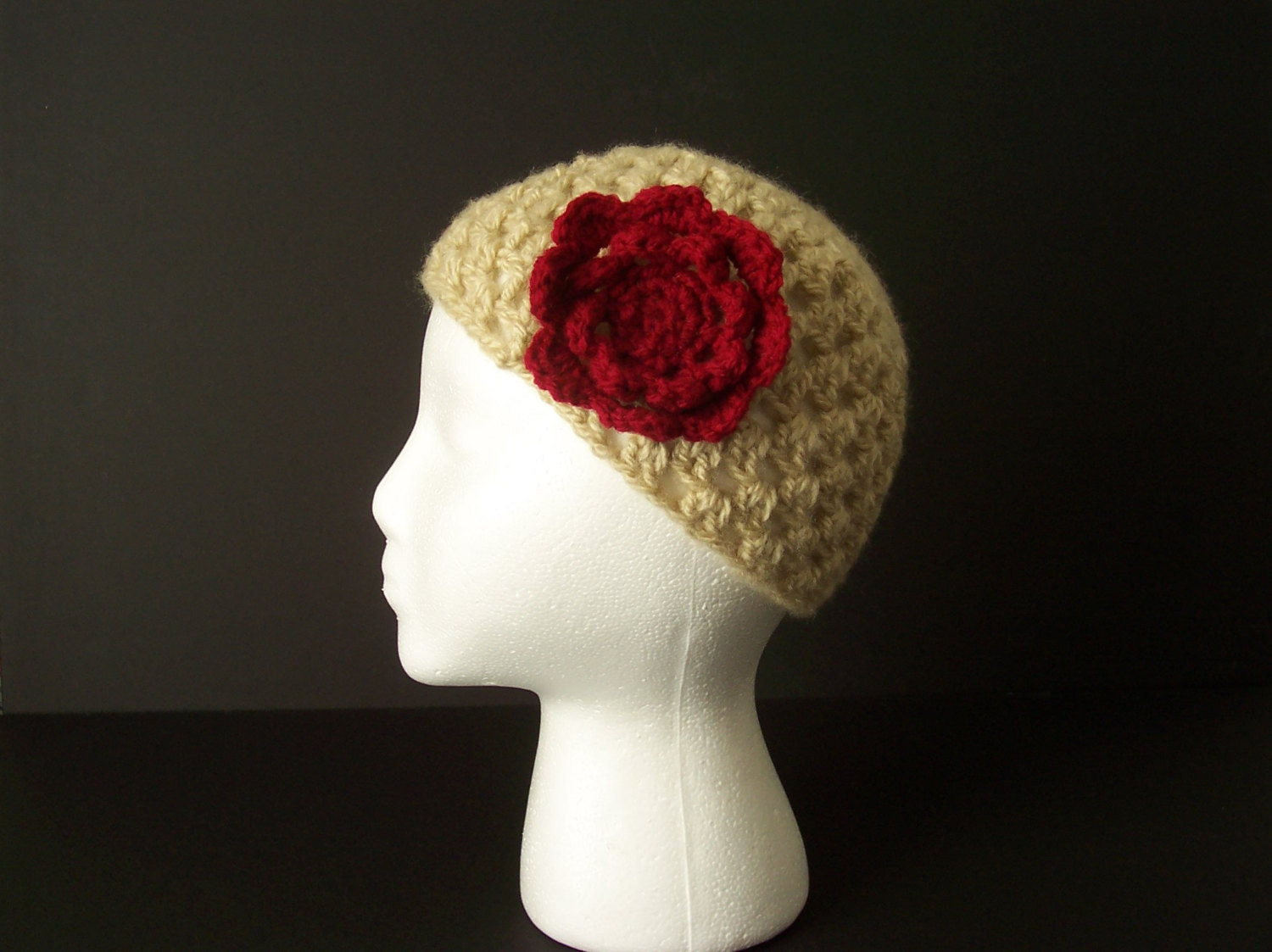 Luxury Crochet Beanie Hat Skull Cap with Red Flower Handmade for Crochet Skull Cap Of Great 43 Pics Crochet Skull Cap
