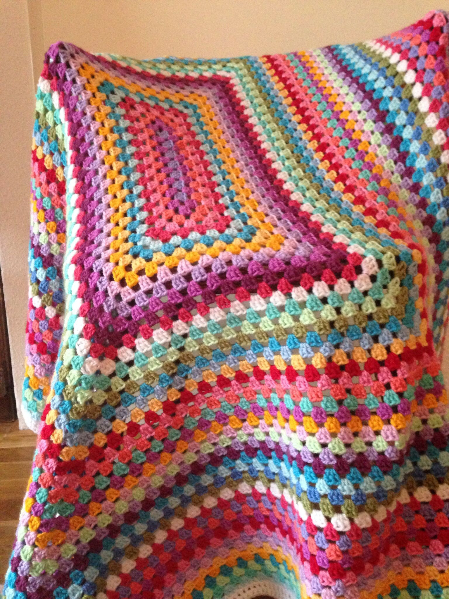 Crochet blanket love the colors Great idea for all