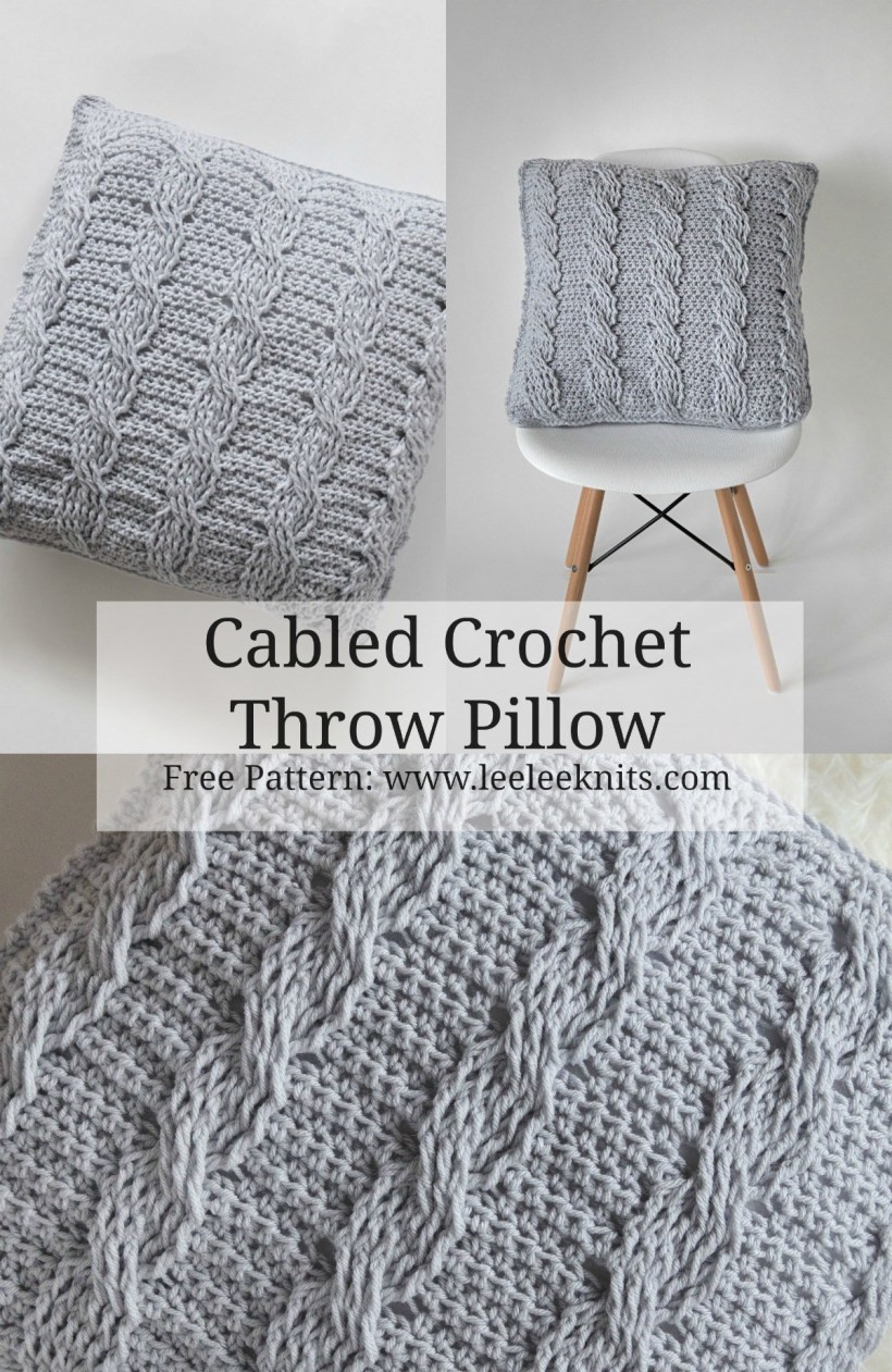 Luxury Crochet Cabled Throw Pillow Pattern Leelee Knits Crochet Pillow Patterns Of New 49 Models Crochet Pillow Patterns